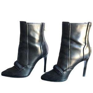 Balmain tavi leather ankle boots